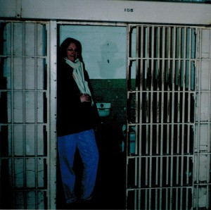 chris in a cell on the rock